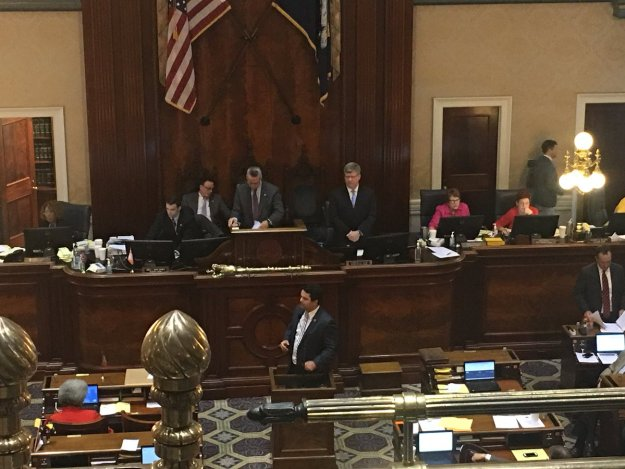 Micah Caskey selling his amendment in the House./@TigerMuniSC