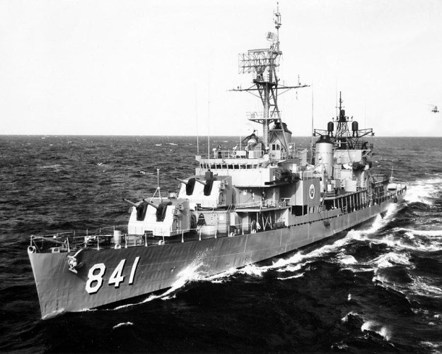 There are no pictures from my talk, so, since this was a naval group, here's a picture of a ship -- one my Dad served in, long ago, USS Noa.