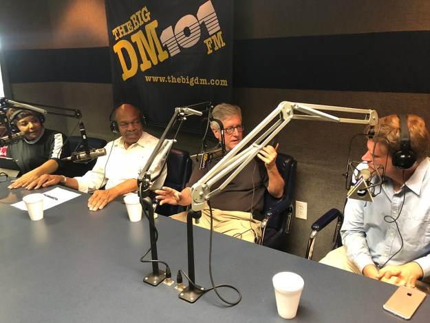Cynthia Hardy, Jim Felder, me and Jon Parker on the radio Sunday night.