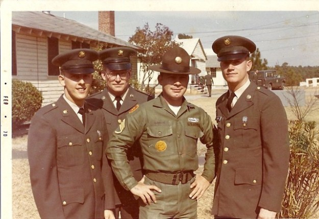 Bowman as a drill sergeant at Fort Jackson, after his Vietnam service.