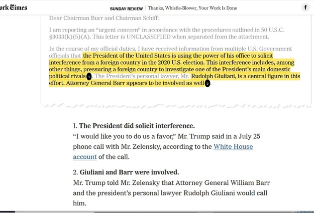 A portion of the complaint, annotated by the NYT.