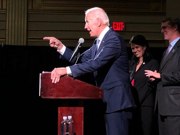 Joe Biden campaigning with us in October 2018.