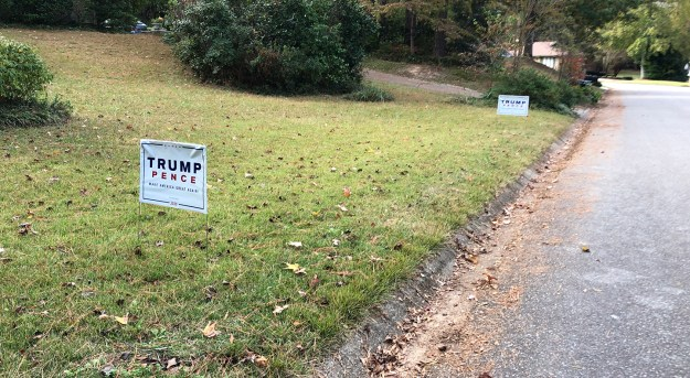 late Trump signs