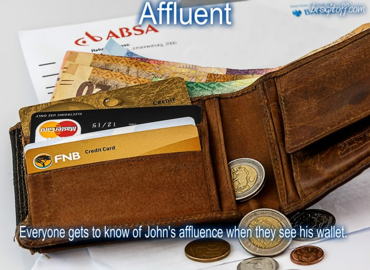 how to use affluent in a sentence