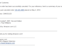 amazon cancelation scam
