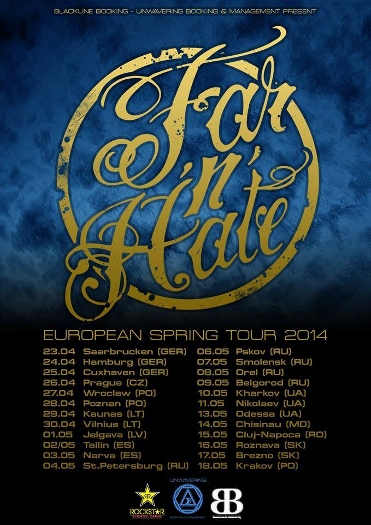 Far 'n' Hate european tour 2014