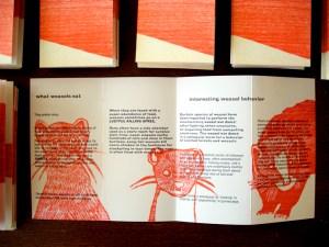 Letterpress Weasel pamphlet
