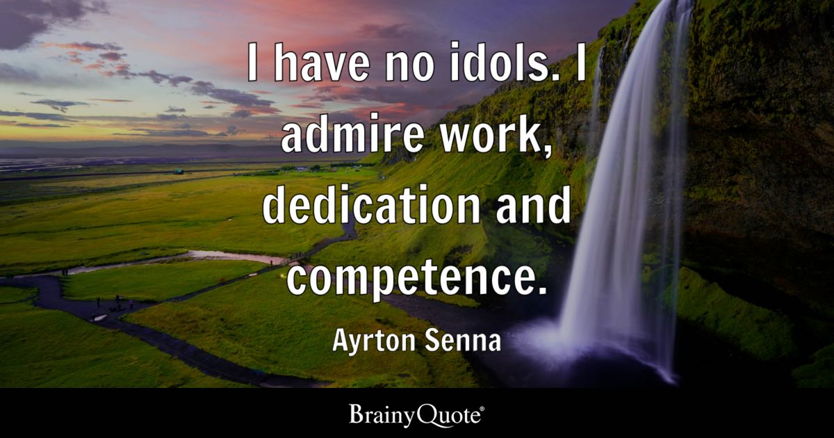Military Excellence Quote Wallpaper I Have No Idols I Admire Work Dedication And Competence