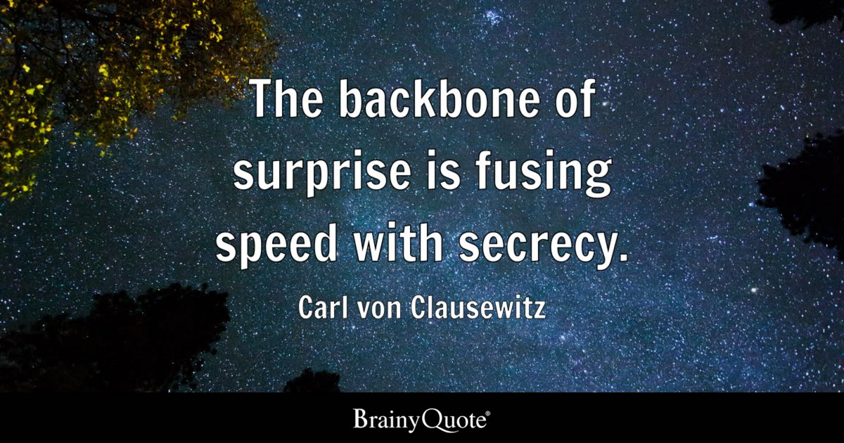 Motivational Sports Quotes Iphone Wallpaper The Backbone Of Surprise Is Fusing Speed With Secrecy