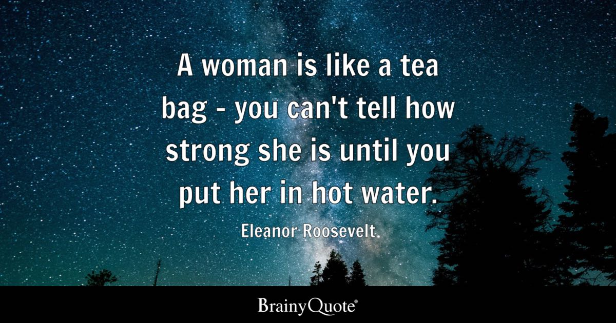 Cute Boy And Girl Friendship Wallpapers A Woman Is Like A Tea Bag You Can T Tell How Strong She