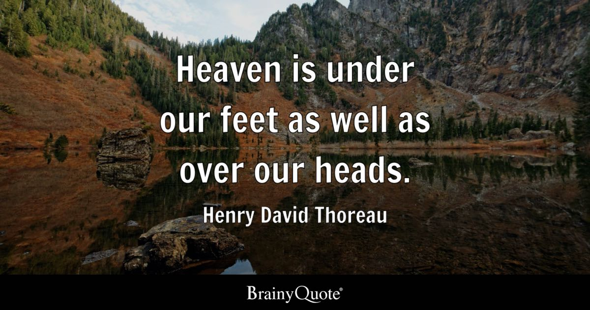 Cute Short Quotes Wallpaper Heaven Is Under Our Feet As Well As Over Our Heads
