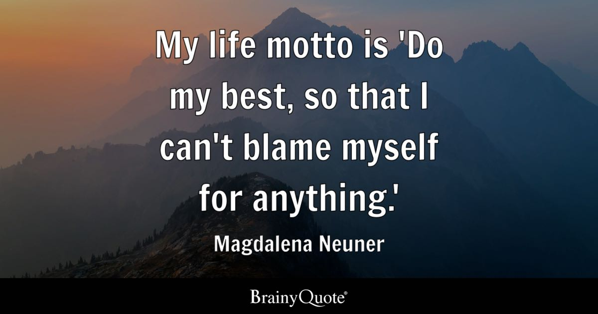 Anime Love Wallpapers And Quotes Tagalog My Life Motto Is Do My Best So That I Can T Blame Myself