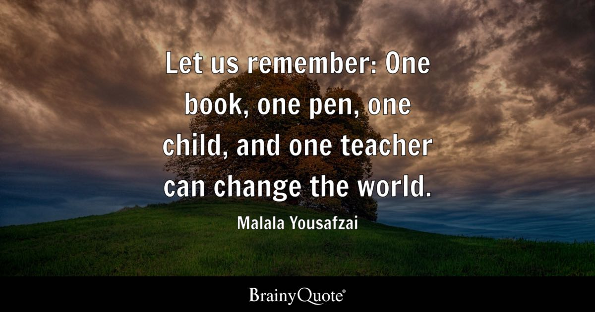 Why Do We Fall Wallpaper Malala Yousafzai Let Us Remember One Book One Pen One