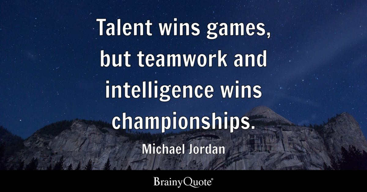 Fall Of Quotations Wallpapers Michael Jordan Talent Wins Games But Teamwork And