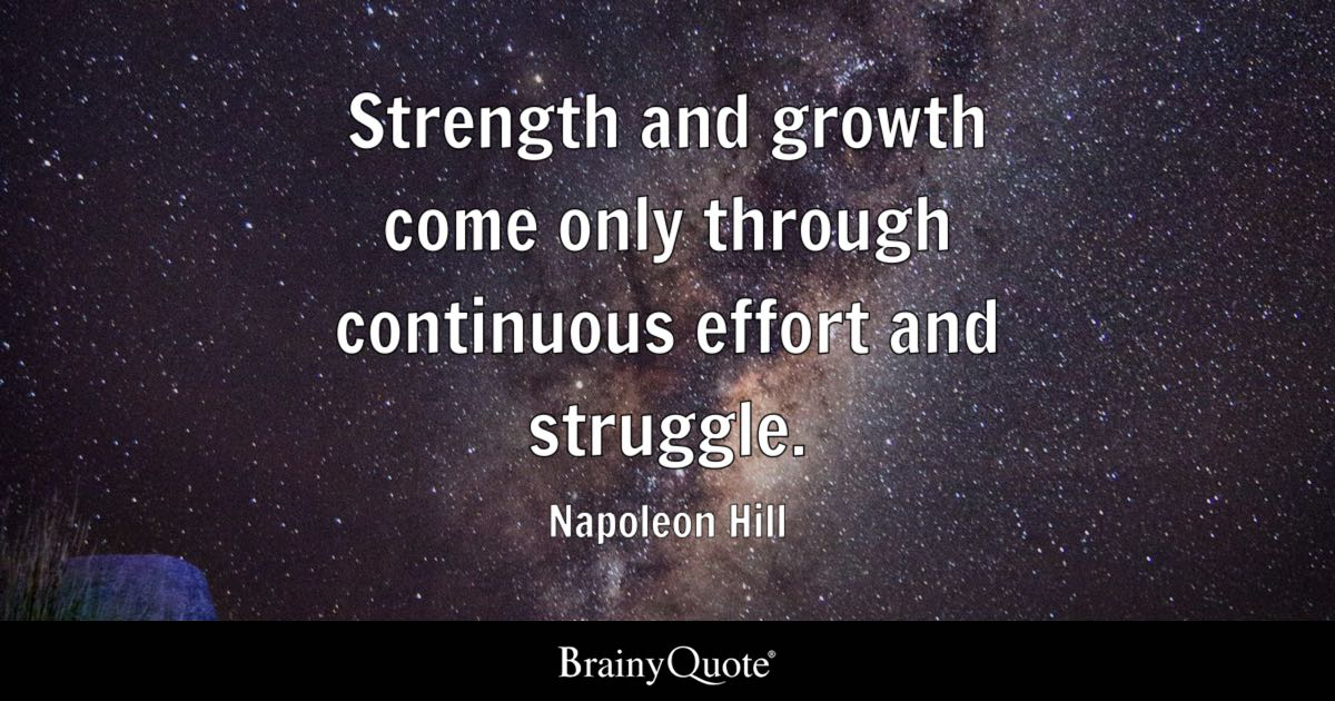Expectations Quote Wallpapers Strength And Growth Come Only Through Continuous Effort