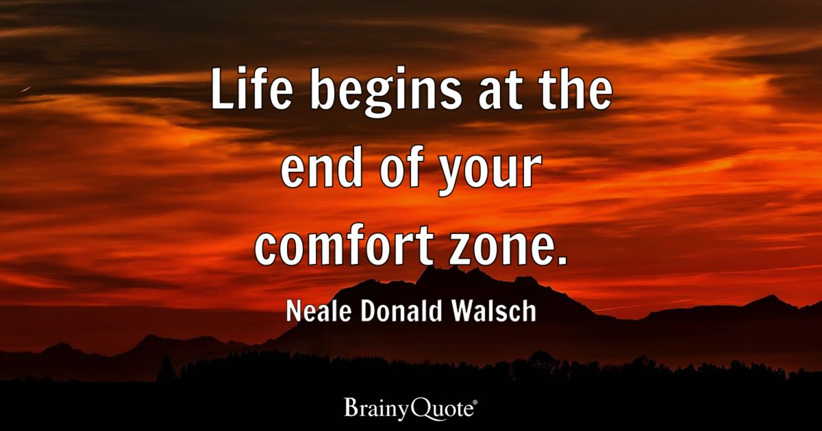 Relationship Quotes Wallpapers Life Begins At The End Of Your Comfort Zone Neale