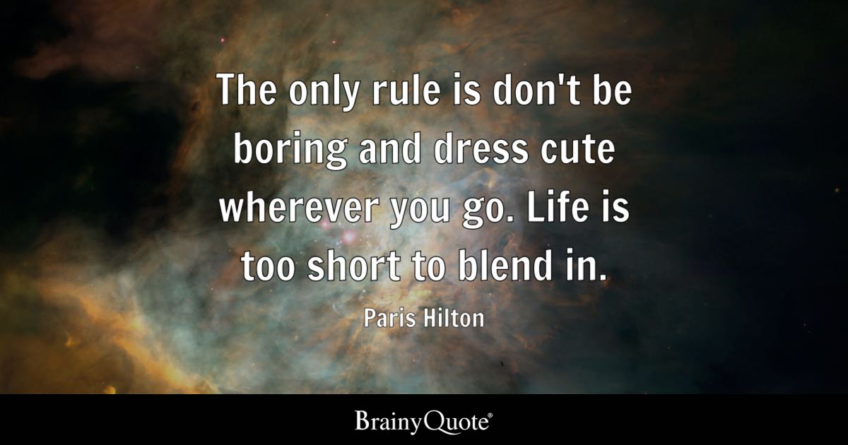 Fb Cover Wallpaper Cute Paris Hilton The Only Rule Is Don T Be Boring And Dress