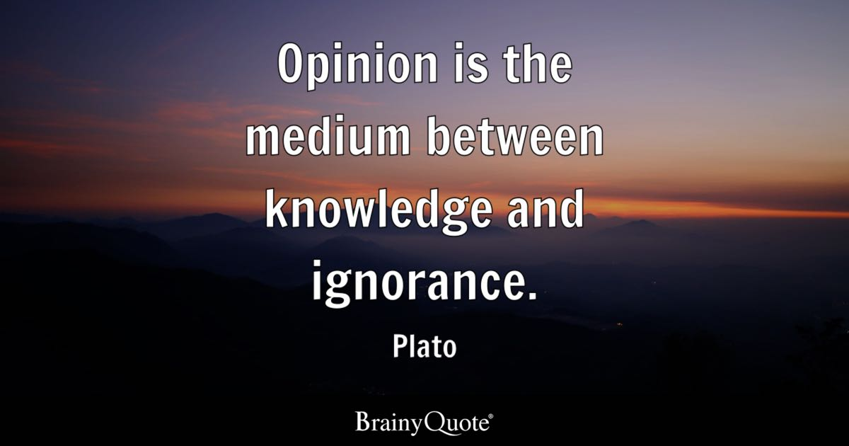 Brainy Funny Quotes Wallpapers Opinion Is The Medium Between Knowledge And Ignorance