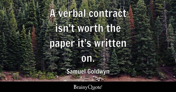 Contract Quotes - BrainyQuote - contract important elements