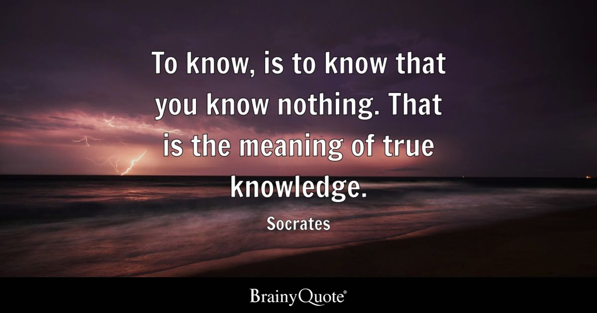 Life Quotes Wallpaper In Hindi Socrates To Know Is To Know That You Know Nothing That