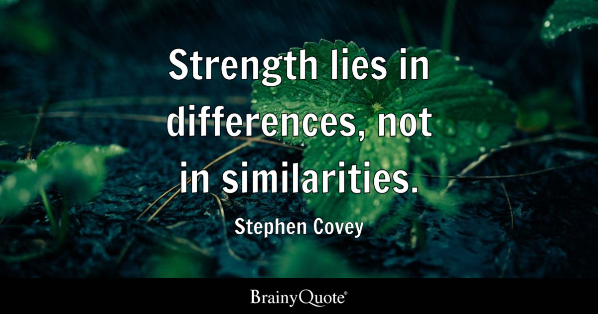 Warren Buffett Quotes Iphone Wallpaper Stephen Covey Strength Lies In Differences Not In