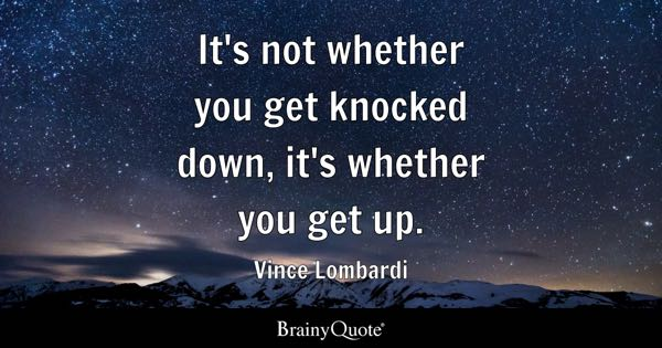 Why Do We Fall Bruce Wallpaper Vince Lombardi Quotes Brainyquote