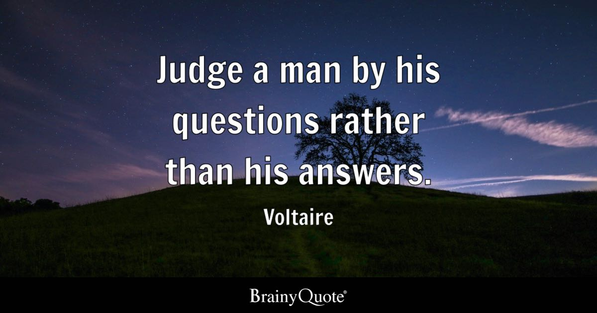 Lion Live Wallpaper Iphone Voltaire Judge A Man By His Questions Rather Than His