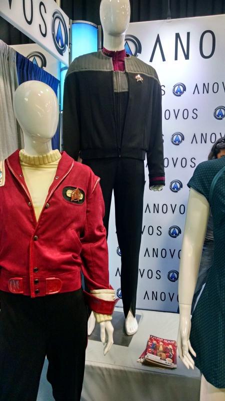 [image: costume display of star trek uniforms]