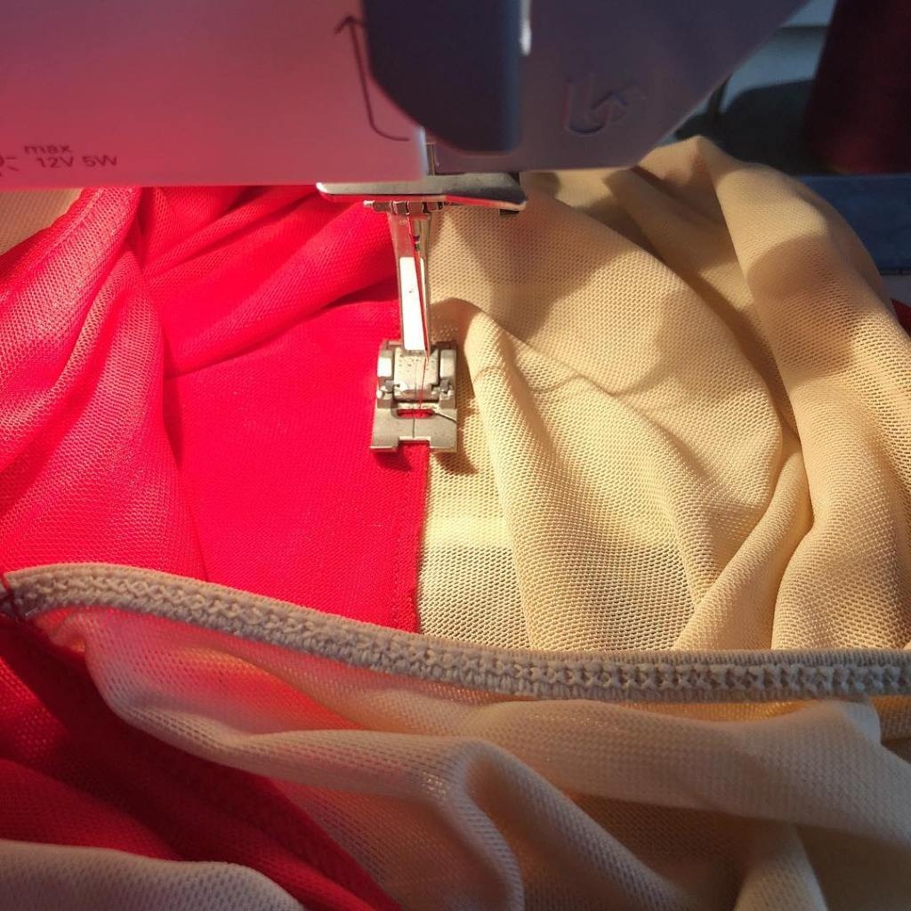Even a premade skating dress needs a few finishing toucheshellip