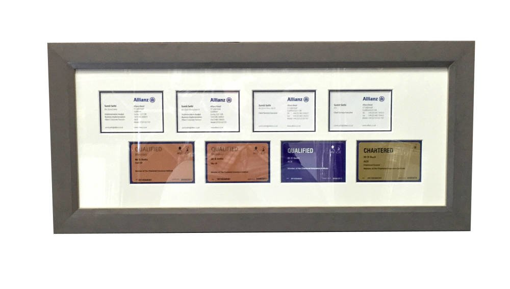 Business cards framed - frame for cards