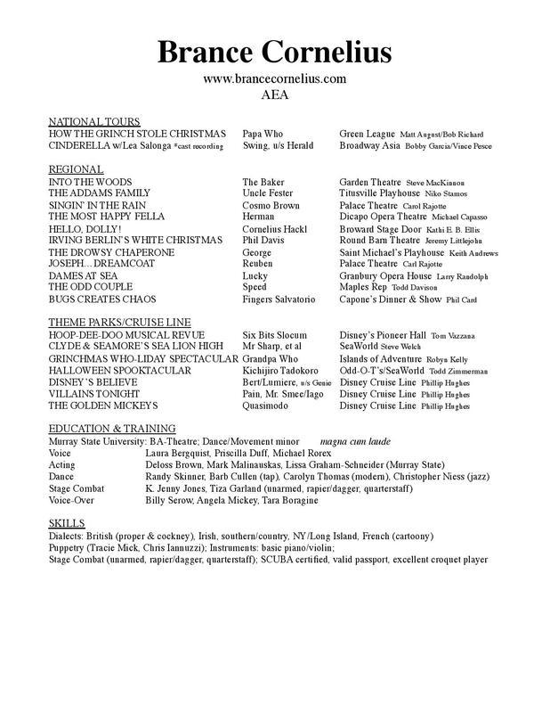 Resume - BRANCECORNELIUSCOM - appropriate resume font