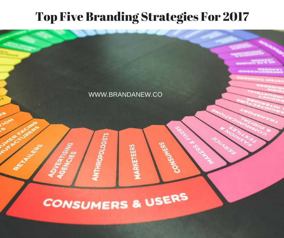 Top Five Branding Strategies You Can Leverage in 2017