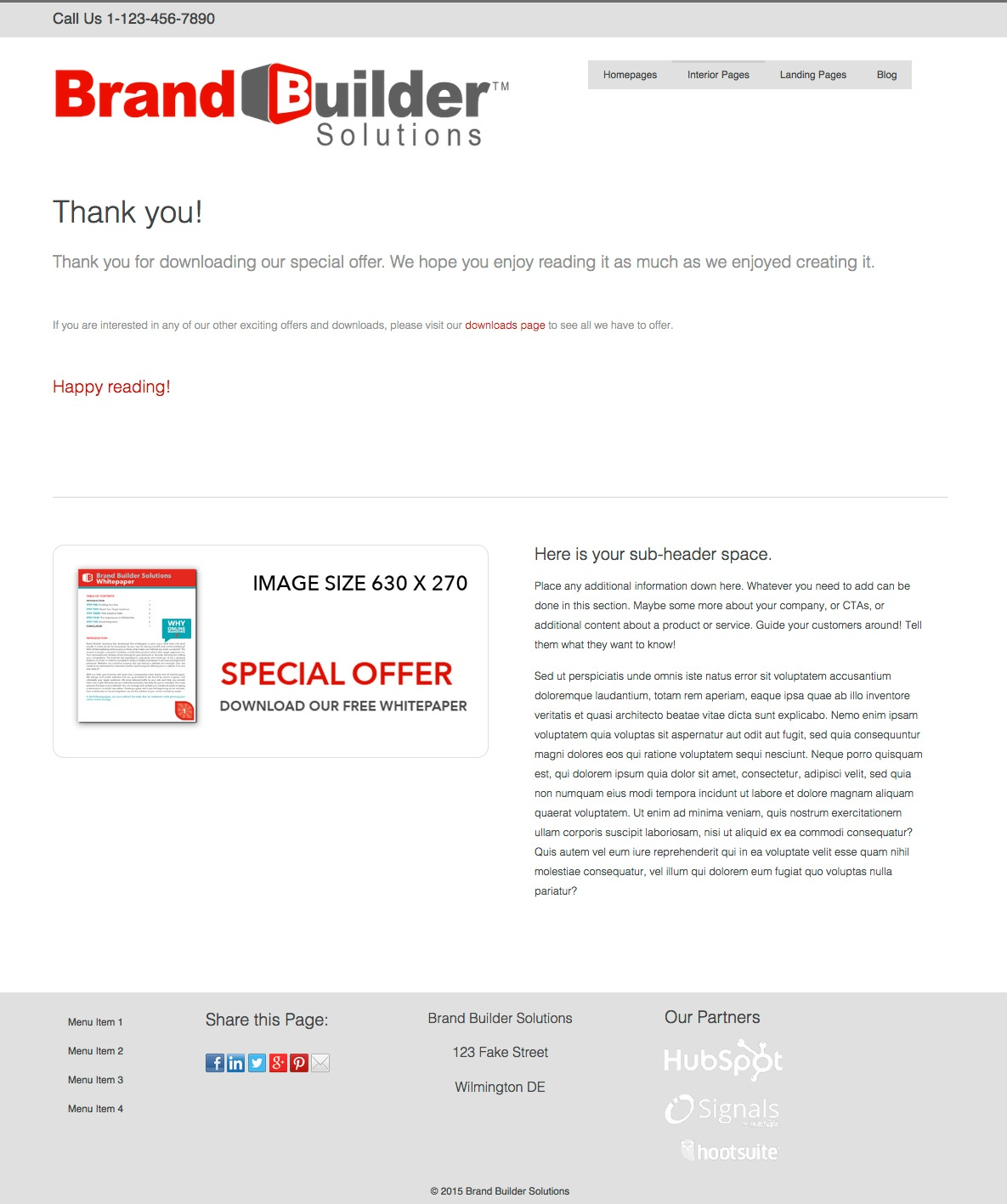 Optimize Responsive I - Thank You Page