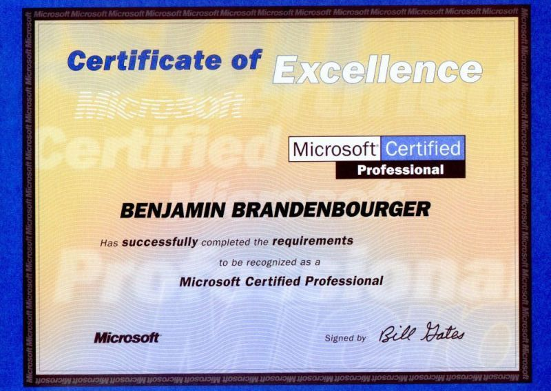 mcpjpg - microsoft certificate of excellence