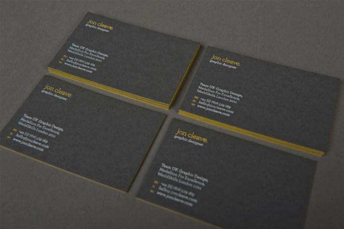 Jon Cleave business card deign 03