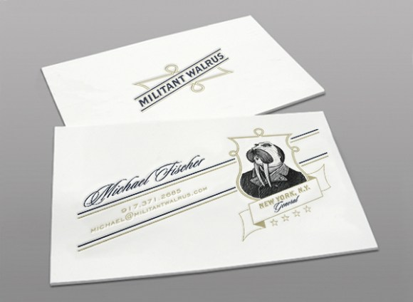 letterpress  Business card design 07