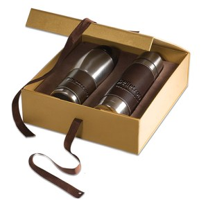 leather wrap thermos / Tumbler mug gifts items