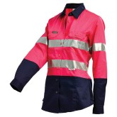 Ladies lightweight pink shirt workwear