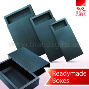 Black slider box Readymade in different sizes, Boxes UAE Supplier. www.brandsgifts.ae