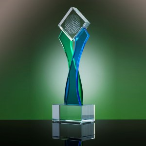 Stylish Designer Crystal Custom Trophy for all events and occasions www.brandsgifts.ae