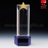 Custom Star Glass Trophy Awards, Custom Crystal Trophies and Plaques. Dubai, Abu Dhabi, UAE Supplier. www.brandsgifts.ae