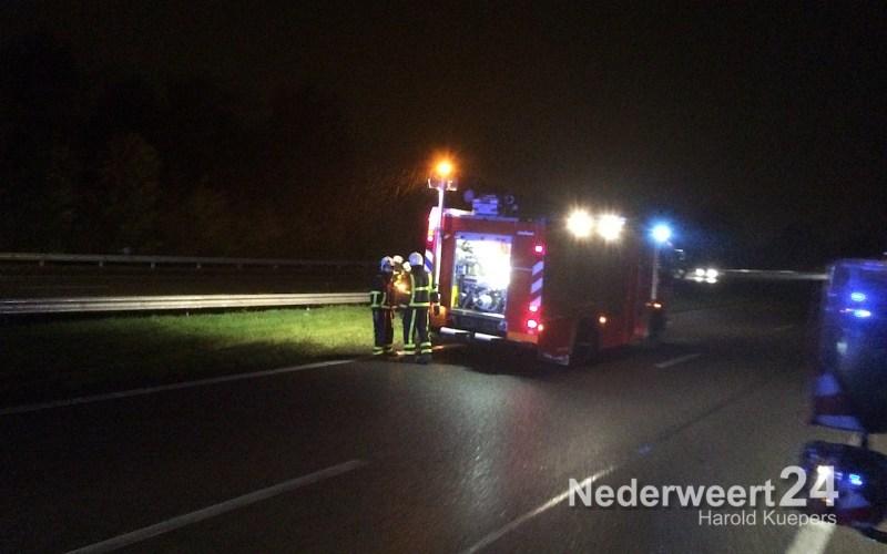 Verkeersongeval A2 Nederweert