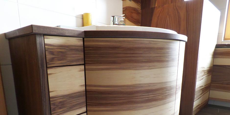 Badezimmer In Geöltem Amerikanischem \ Satinem Nuss Holz Badezimmer Nussbaum