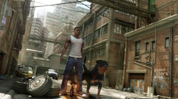 GTA V dog 300x168 Grand Theft Auto V Review
