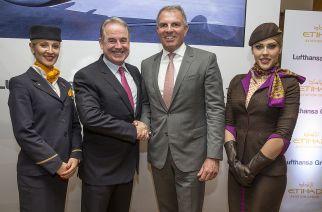 Lufthansa estende cooperação com Etihad Aviation Group