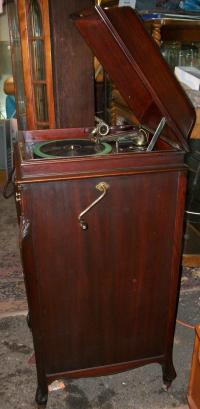 Victrola Record Player, BRASS LANTERN ANTIQUES