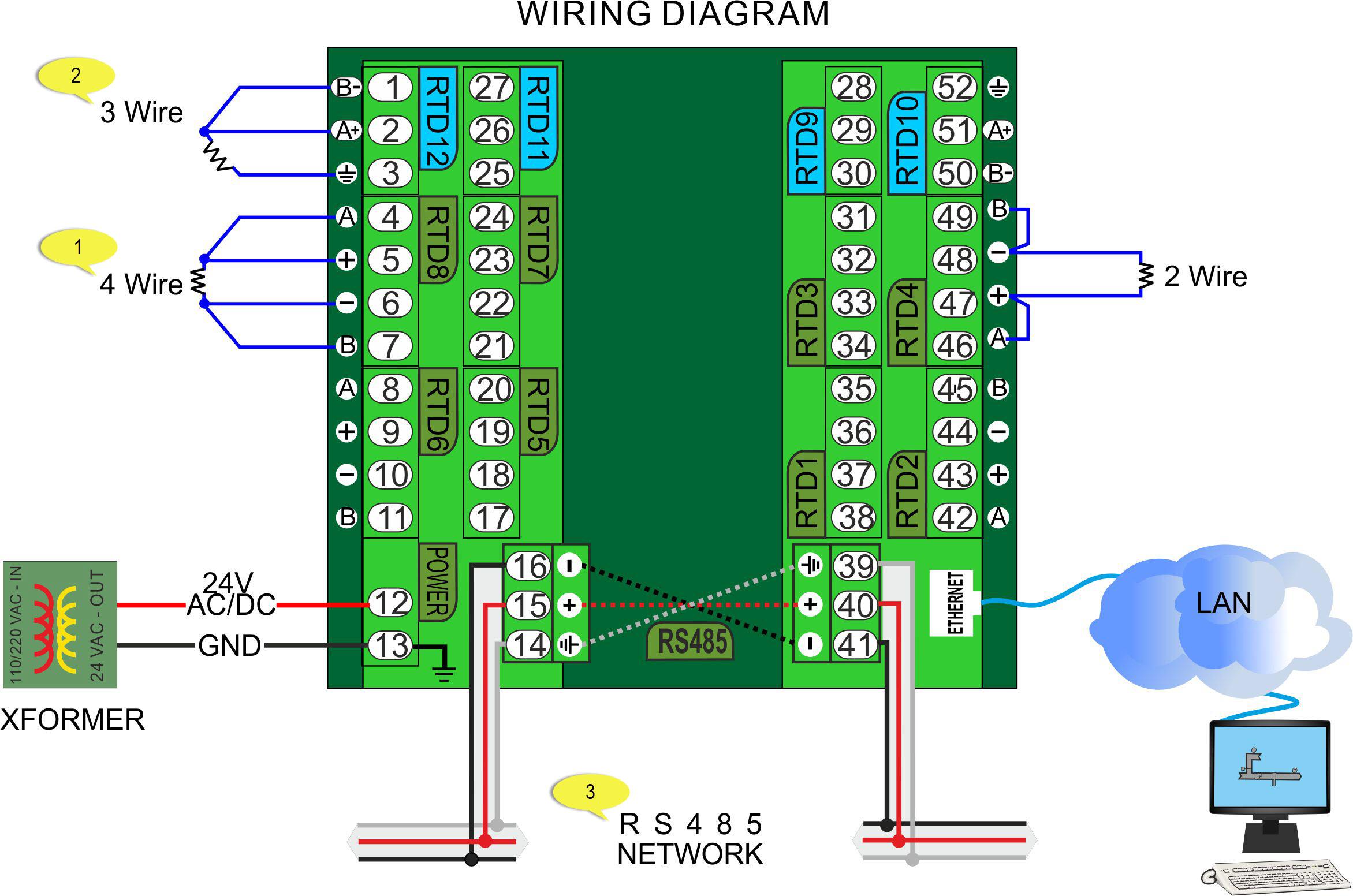 pt100 transmitter wiring diagram