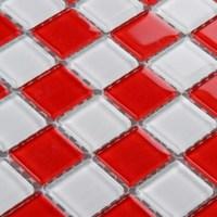 Red glass backsplash tile kitchen mosaic designs 3031 ...