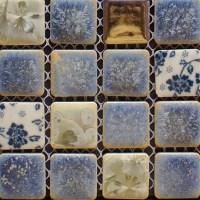 Porcelain tile backsplash kitchen for walls blue and white ...