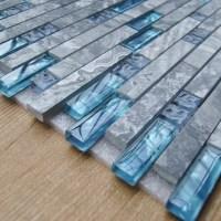 Sea Glass Tile Shower | Tile Design Ideas
